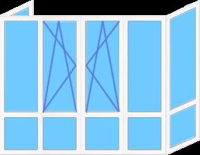 Цена пластиковых окон на французский балкон в Запорожье
