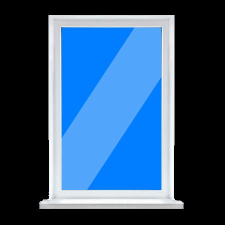 Окно глухое пластиковое недорого в Запорожье